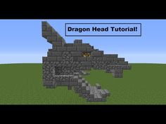 Minecraft: How To Build A Dragon Statue (Advanced). Minecraft Castle Blueprints, Minecraft Statues, Minecraft Building Guide, Easy Minecraft Houses, Minecraft Medieval, Minecraft Plans, Amazing Minecraft, Minecraft Tutorial, Minecraft Designs