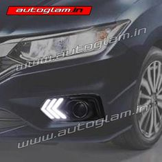 A drl or daytime running light is lighting device on the front of the car. It increases the visibility during fog and on hills. Honda City 2017, Running, Big
