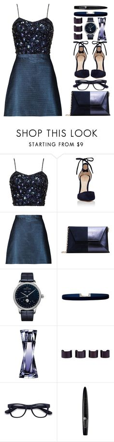 """Geen titel #563"" by lisannes1 ❤ liked on Polyvore featuring Gianvito Rossi, Carven, Jaquet Droz, Lulu in the Sky, Lancôme, Maison Margiela, EyeBuyDirect.com and Bourjois"