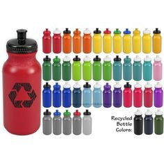 Squeeze Water Bottle Colors | American Made Water Bottles | Bulletin Bottle [.com]