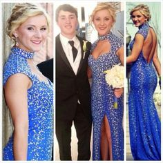 sassy royal blue beaded mermaid evening prom gown Stunning Prom Dresses, Pink Prom Dresses, Formal Dresses, Cute Pink, Royal Blue, Sassy, Mermaid, Glamour, Gowns