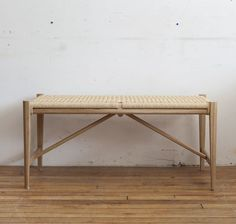 GUFF | Vintage Scandinavian Mid Century Furniture and Accessories. Beautifully hand crafted white oak and danish paper cord bench. This danish inspired bench has exposed mortise and tenon joinery.: