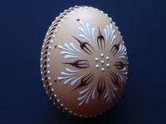 Set of 3 Decorated Brown Chicken Eggs by EggstrArt on Etsy