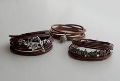 Leather  Bracelet via bead balance IDEA BLOG