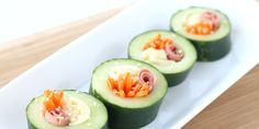 Easy Cucumber Sushi for Kids + Arla Cheese Giveaway Non Sandwich Lunches, Lunch Snacks, Snacks Kids, Easy Snacks, Healthy Toddler Snacks, Super Healthy Kids, Healthy Slice, Healthy Foods, Healthy Eating
