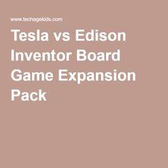 Tesla vs Edison Inventor Board Game Expansion Pack