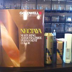 New Ammmonia-Free Haircolor! By Goldwell. Coming soon to Aqua Salon! #goinggreen