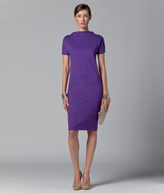 Simplicity at its best with that splash of royal purple to add the wow factor - max mara