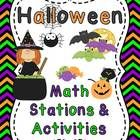 A great Halloween themed pack for math that has 7 fun worksheets and 7 hands-on math stations to make math fun in October!  **Download the free pre...
