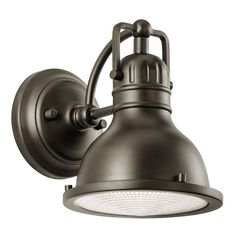 led hatteras bay olde bronze one light small outdoor wall lantern with fresnel glass mozeypictures Image collections