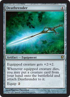Deathrender-x4-Magic-the-Gathering-4x-Conspiracy-mtg-rare-card-lot-equipment