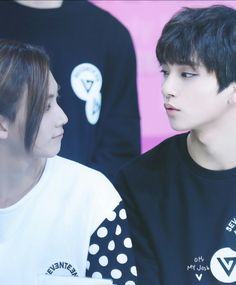 Jeonghan & Joshua (Seventeen) - Ugh, the way they look at each other, got a noona fangirl all jealous...