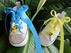 SMURFETTE Smurfs Infant Girl Converse by angelareesestudio on Etsy, $65.95