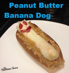 Banana Dog  | One of the Most Satisfying, Easy, Healthy Meals | Perfect: Back-to-School too! | | For MORE RECIPES please SIGN UP for our FREE NEWSLETTER www.NutritionTwins.com
