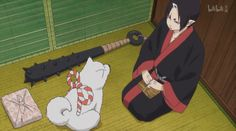 episode 04: Shiro and Hozuki in the taxi on the way to hell police station