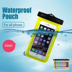 New Clear Waterproof Pouch Dry Case Cover For 5.5 inch Phone Camera Mobile phone Waterproof Bags for IPHONE 4 4S…