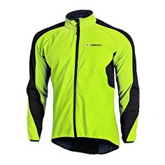 Sponeed Windproof Jacket Mens Fleece Cycling Jersey Thermal shirt L Green -- Check out this great product.Note:It is affiliate link to Amazon.