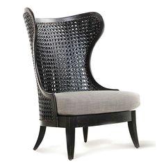 Levine Wing Chair - Box Living - Bedroom Designs, Interior Design, Decor Home Cane Furniture, Deco Furniture, Wicker Furniture, Luxury Furniture, Furniture Design, Modern Furniture, Upcycled Furniture, Rustic Furniture, Office Furniture