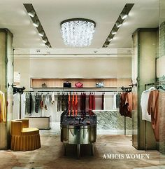 Amicis  Both Amicis boutiques offer international designers in an architecturally awe-inspiring shopping environment.