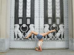 Travel Yoga Around the World - Headstand Sirsasana, Washington, D.C.