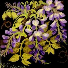 Elizabeth Bradley  Wisteria  Needlepoint Kit by MyStitchingGarden
