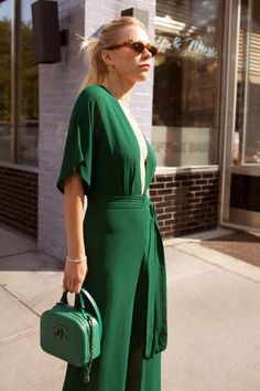 Courtney Trop in the Petites Swiss Jumpsuit