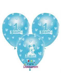 Mickey Mouse Balon 1 yaş (20 Adet)
