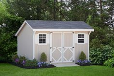 DIY Storage Shed panelized walls makes for an easy weekend project!   Wood Saltbox Storage Shed | Shed Kit | Tool Shed| Outdoor Storage