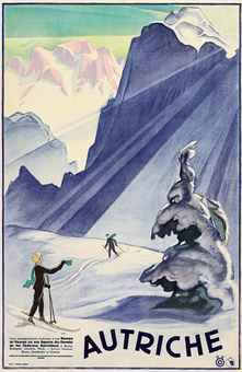 vintage ski poster  - AUTRICHE- I really want to add this to my collections of posters in my room