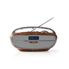 Digital DAB + radio   60 W   FM   Bluetooth®   Brun/sølvfarge   Satelittservice tilbyr bla. HDTV, DVD, hjemmekino, parabol, data, satelittutstyr Dab Radio, Bluetooth, Retro, Digital, Retro Illustration