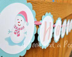 pink winter birthday theme | Winter ONEderland Birthday Banner Winter Wonderland Theme Shower ...