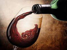 Glass of Wine by *Hidden-Rainbows on deviantART