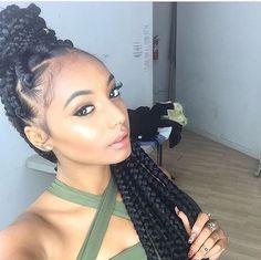 Afro Hairstyles with Braids Dookie Braids, Big Box Braids, Jumbo Box Braids, Hair Colorful, Curly Hair Styles, Natural Hair Styles, Bombshell Beauty, Beautiful Braids, Beautiful Gorgeous