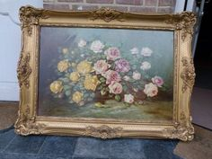 Gorgeous painting of flowers by Paul Schouten recently cleaned and restored. The dimensions are x Discover more beautiful items from Johan Doomen's collection, a professional Belgian antique dealer, on Transferantique. Restoration, Antiques, Flowers, Painting, Beautiful, Collection, Things To Sell, Art, Antiquities