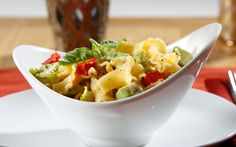 Barilla® Campanelle Pasta Salad with Avocado, Boston Lettuce  http://www.barillaus.com/content/recipe/barilla-campanelle-pasta-salad-avocado-boston-lettuce-roasted-red-peppers