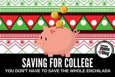 Parents need to save for their child's college education. They don't have to save the whole enchilada. But they do need to invest something.