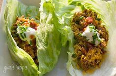 turky bacon Taco lettuce wraps