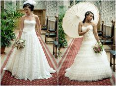 lace wedding dresses and parasols inspiration shoot