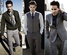 These are three great examples of Men's Mod style. Which is closely related to London nightlife and is considered a mix of suits with casual clothing that creates a sharp put together look. ~RS
