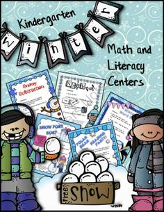 Winter Math and Literacy Centers for Kindergarten from TeacherTam on TeachersNotebook.com -  (90 pages)  - This set of 10 winter-themed centers includes the following math and literacy activities:  * Polar Bear Reading Party  This reading board game comes with 3 sets of cards (sight words;  sight word sentences; and sentences with blends, digraphs, and long vo