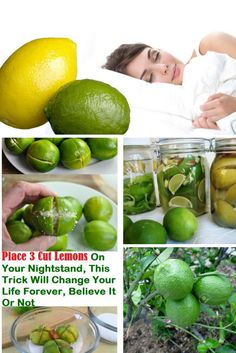 Place 3 Cut Lemons On Your Nightstand And It Will Change Your Life Forever, Believe It Or Not!