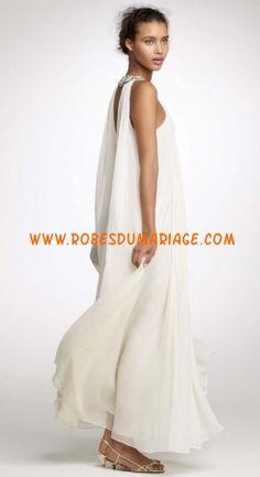 J Crew de Mariée robe de mariée originale glamour col montant décorée de cristaux mousseline Style 42944 Robe