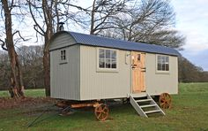 We were really pleased with the layout of this glamping shepherd's hut, commissioned as a b&b to incorporate a kitchen, sofa/double bed and shower room. Description from roundhillshepherdhuts.co.uk. I searched for this on bing.com/images
