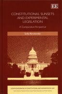 'This book provides a comprehensive look at sunset clauses and experimental legislation. Thorough and well-researched, the book makes a valuable contribution to the study of these important and controversial, yet understudied, legislative instruments. the book should be of great interest to scholars, students and practitioners in the fields of legislation, regulation, public law and public policy.' - Ittai Bar-Siman-Tov, Bar-Ilan University Faculty of Law, Israel.