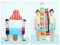 Oversized food and props. #icecream #popsicle Featurekins // Summer Symmetry | Babiekins Magazine by alix martinez