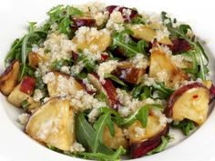 Quinoa, Roasted Apple, and Arugula Salad with a Sweet Chili dressing. From the Community Natural Foods Online Recipe Book. http://communitynaturalfoods.com/recipes