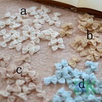 100Pcs/Lot Wholesale headwear decoration lace patch hand sewn clothing DIY accessories female ribbon flower paste