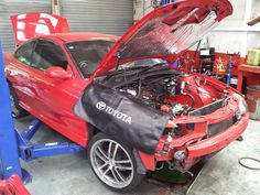 My supercharged Monaro undergoing surgery. Other than the Toyota drop sheet it looks good. Holden Monaro, Surgery, Baby Strollers, Toyota, Drop, Design, Baby Prams, Prams
