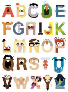Muppet Inspired Alphabet! Way too cool!