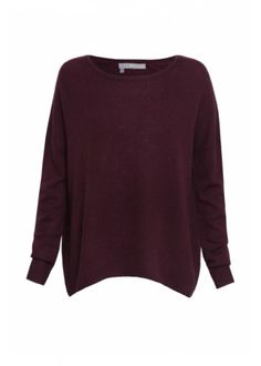 360 Sweater Andi Cashmere Knit - Claret